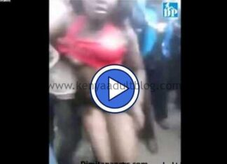 Kenyan Girl Stripped Naked by Mob Cause of Wearing a Mini-skirt (NSFW)