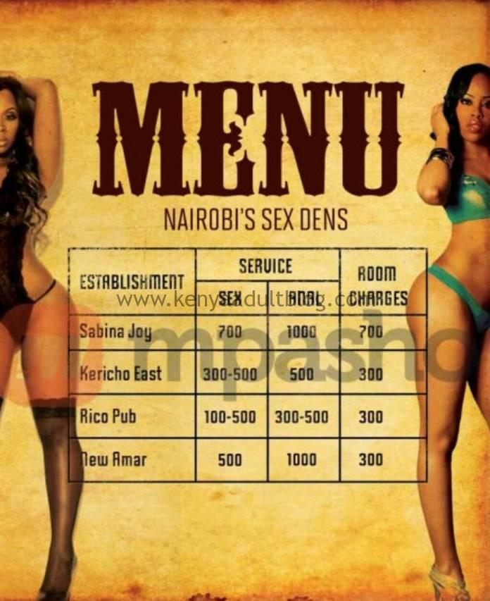 Nairobi Sex Dens Prices Updated