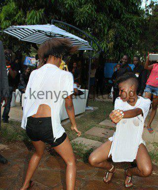 Wet Kenyan Ladies Dancing