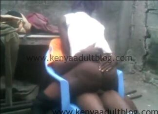 Rich Kenyan Horny Milf Fucked By Watchman Caught on Camera