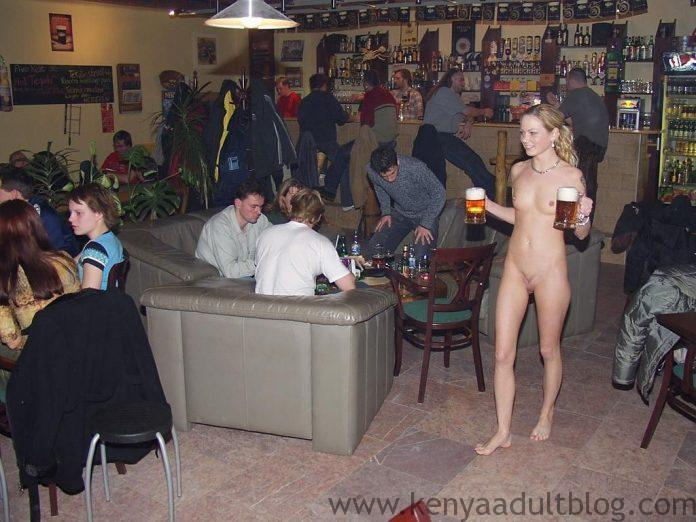 Bar Where FULLY NAKED Waiters Walk Around Serving People